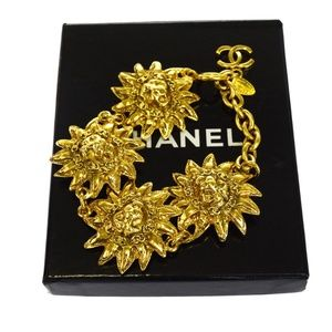 CHANEL Jewelry - Auth CHANEL CC Logos Chain Bangle Bracelet